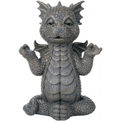 Meditating Dragon Garden Statue LABEShops Home Decor, Fashion and Jewelry