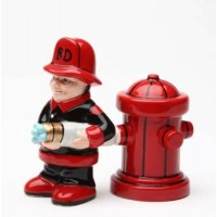 Fireman Salt and Pepper Shakers