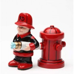 Fireman Salt and Pepper Shakers LABEShops Home Decor, Fashion and Jewelry