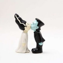 Frankensteins Monster and Bride Salt and Pepper Shakers LABEShops Home Decor, Fashion and Jewelry