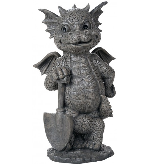 Gardeneing Dragon Garden Statue at LABEShops, Home Decor, Fashion and Jewelry