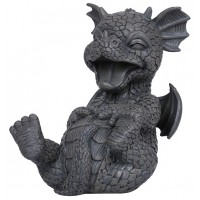 Laughing Dragon Garden Statue