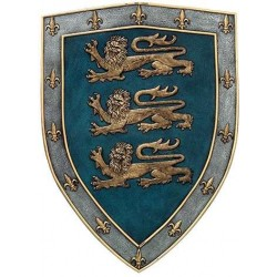 3 Lions Medievel Knights Shield Plaque LABEShops Home Decor, Fashion and Jewelry