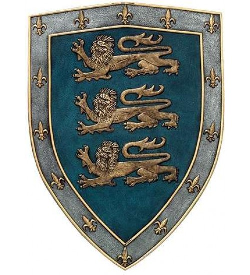 3 Lions Medievel Knights Shield Plaque at LABEShops, Home Decor, Fashion and Jewelry