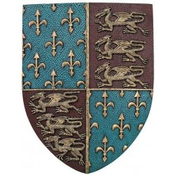 Fleur de Lis and Lions Medievel Knights Shield Plaque LABEShops Home Decor, Fashion and Jewelry