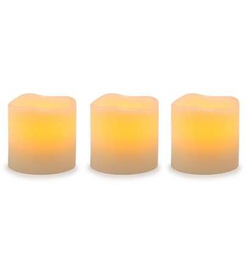 Unscented LED Pillar Candles with Timer - Set of 3 at LABEShops, Home Decor, Fashion and Jewelry
