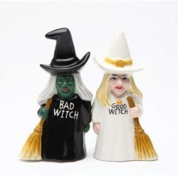 Good Witch Bad Witch Salt and Pepper Shakers LABEShops Home Decor, Fashion and Jewelry