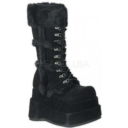 Bear Faux Fur Black Womens Boots LABEShops Home Decor, Fashion and Jewelry