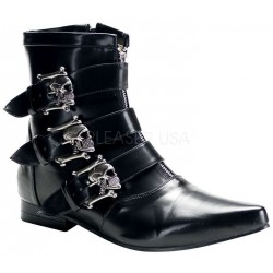 Skull Buckle Brogue Ankle Boot LABEShops Home Decor, Fashion and Jewelry