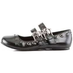 Skull Buckle Mary Jane Flat Gothic Shoes LABEShops Home Decor, Fashion and Jewelry