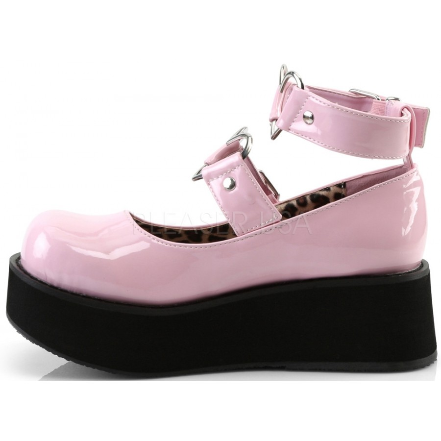 695c704f9b1 Sprite Heart Ring Baby Pink Platform Mary Jane - Heart Ring Ankle ...