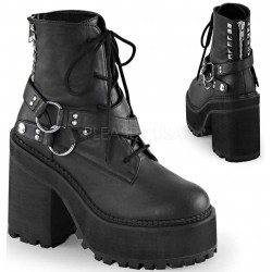Assault Wrapped Block Heel Womens Combat Boot LABEShops Home Decor, Fashion and Jewelry
