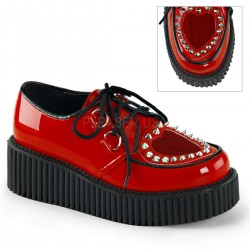 Heart Vamp Studded Womens Creeper in Red LABEShops Home Decor, Fashion and Jewelry