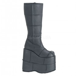 Mens Platform Patched Knee Boot LABEShops Home Decor, Fashion and Jewelry