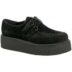 Black Vegan Suede Mens Creeper Loafer LABEShops Home Decor, Fashion and Jewelry