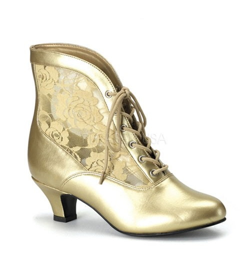Victorian Dame Gold Ankle Boot at LABEShops, Home Decor, Fashion and Jewelry