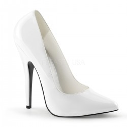 Classic White 6 Inch High Heel Pump