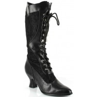 d0a30231e02 Chloe Wide Width Cream Victorian Platform Boot - Wide Shaft Calf Boot