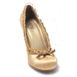 Satin Doll Gold High Heel Pump LABEShops Home Decor, Fashion and Jewelry
