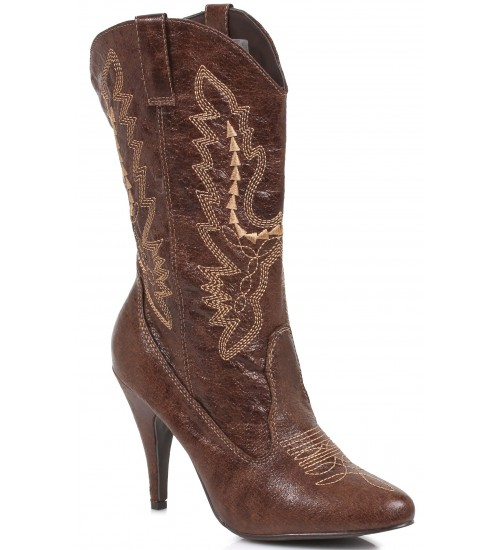Brown Scrolled Cowgirl Boots at LABEShops, Home Decor, Fashion and Jewelry