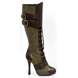 Quinley Steampunk Olive Green Boots LABEShops Home Decor, Fashion and Jewelry