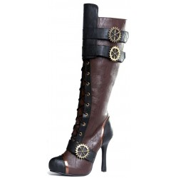 Quinley Steampunk Brown Boots LABEShops Home Decor, Fashion and Jewelry