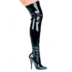 Ally Black Patent Thigh High 5 Inch Heel Boot LABEShops Home Decor, Fashion and Jewelry