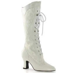 Rebecca Victorian White Lace Boot LABEShops Home Decor, Fashion and Jewelry