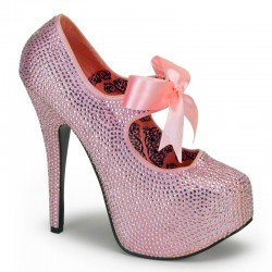 Baby Pink Rhinestone Teeze Platform Pump LABEShops Home Decor, Fashion and Jewelry
