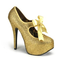 Gold Rhinestone Teeze Platform Pump LABEShops Home Decor, Fashion and Jewelry