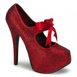 Ruby Red Rhinestone Teeze Platform Pump LABEShops Home Decor, Fashion and Jewelry