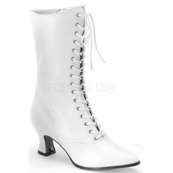 White Victorian Steampunk Ankle Boots LABEShops Home Decor, Fashion and Jewelry