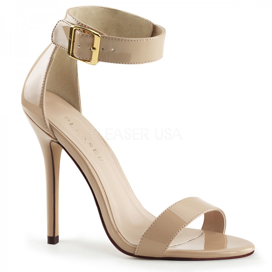 1efdc61da1 ... 5 inch heel. Amuse Cream Ankle Strap Sandal at LABEShops, Home Decor,  Fashion and Jewelry