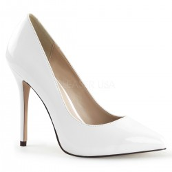 Amuse White 5 Inch High Heel Pump LABEShops Home Decor, Fashion and Jewelry