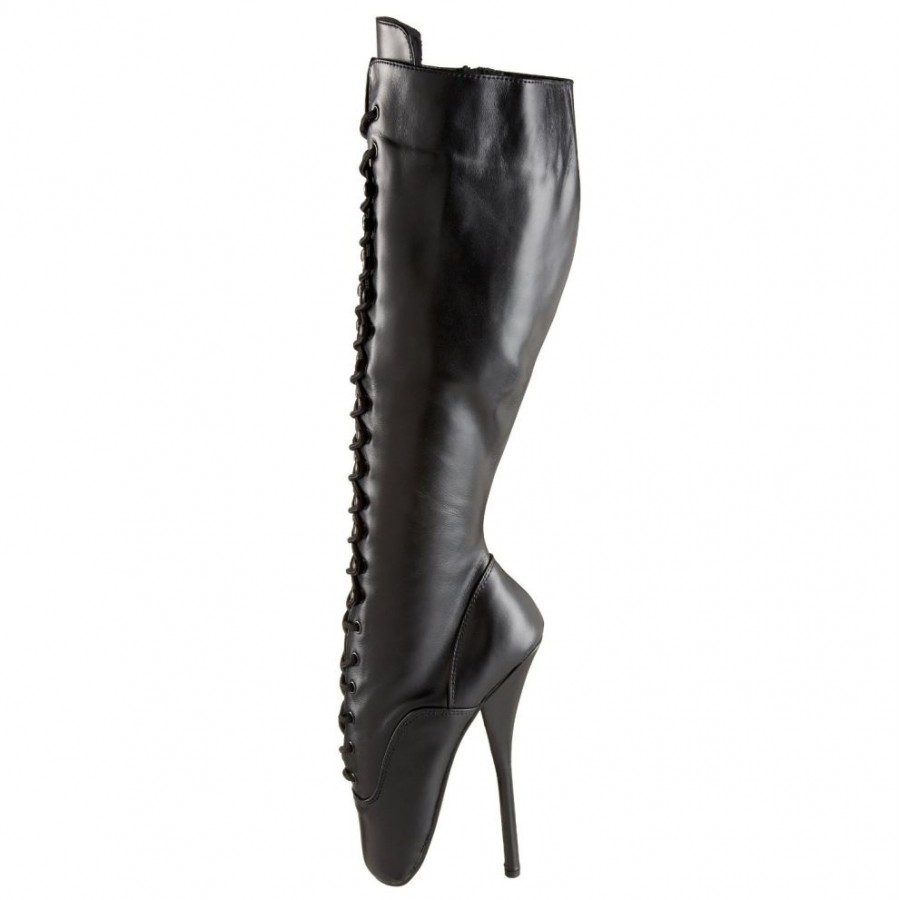 8c6b22937b Black Leather Ballet Extreme Lace Up Knee Boot at LABEShops, Home Decor,  Fashion and