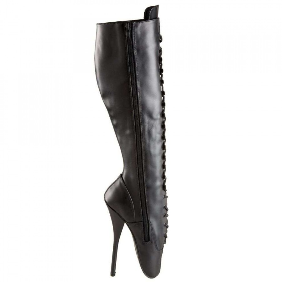 aa3a4779a1 ... Black Leather Ballet Extreme Lace Up Knee Boot at LABEShops, Home  Decor, Fashion and ...