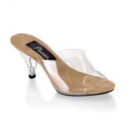 Belle Clear and Tan Peep Toe Slide LABEShops Home Decor, Fashion and Jewelry