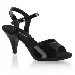 Black Belle 3 Inch Heel Sandal LABEShops Home Decor, Fashion and Jewelry
