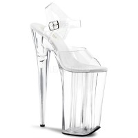 Beyond Extreme Clear 10 Inch High Sandal
