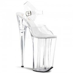 Beyond Extreme Clear 10 Inch High Sandal LABEShops Home Decor, Fashion and Jewelry