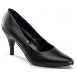 Black Faux Leather Essential Pump 420 3 Inch Heel Shoe LABEShops Home Decor, Fashion and Jewelry