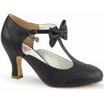 Flapper Black Kitten Heel T-Strap Bow Pump at LABEShops, Home Decor, Fashion and Jewelry