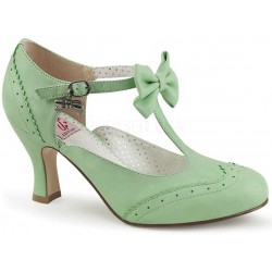 Flapper Mint Green Kitten Heel T-Strap Bow Pump LABEShops Home Decor, Fashion and Jewelry