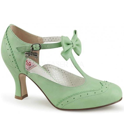 Flapper Mint Green T-Strap Bow Pump at LABEShops, Home Decor, Fashion and Jewelry