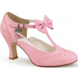 Flapper Pink Kitten Heel T-Strap Pump LABEShops Home Decor, Fashion and Jewelry
