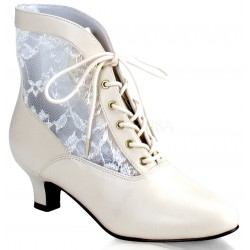 Victorian Dame Ivory Ankle Boot LABEShops Home Decor, Fashion and Jewelry