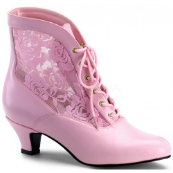 Victorian Dame Baby Pink Ankle Boot LABEShops Home Decor, Fashion and Jewelry