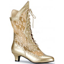 Victorian Dame Gold Lace Boot LABEShops Home Decor, Fashion and Jewelry