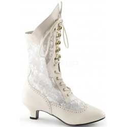 Victorian Dame Ivory Lace Boot LABEShops Home Decor, Fashion and Jewelry