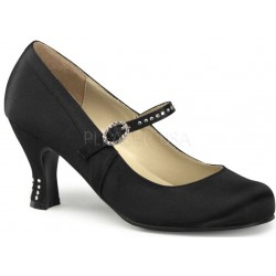 Flapper Black Satin Mary Jane Pump LABEShops Home Decor, Fashion and Jewelry